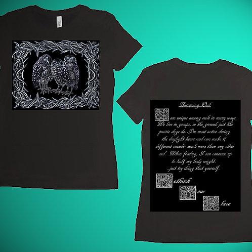 Burrowing Owl Womens T-Shirt