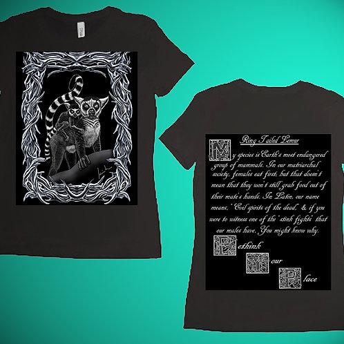 Ring Tailed Lemur Womens T-Shirt