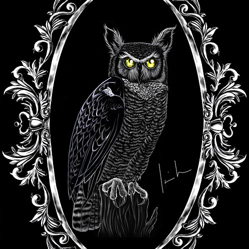 Great Horned Owl Mens T-Shirt