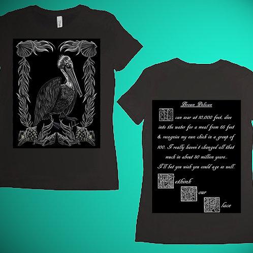 Brown Pelican Womens T-Shirt