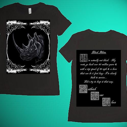 Black Rhino Womens T-Shirt