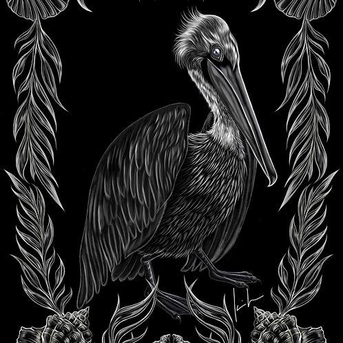 Brown Pelican Mens T-Shirt