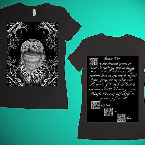 Snowy Owl Womens T-Shirt