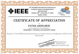 Le CBI², membre des comités scientifique et de programmes des Conférences AICCSA et EDA 2018 !