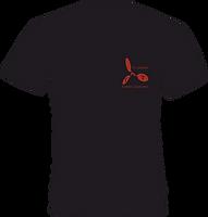 T-shirt nero/rosso
