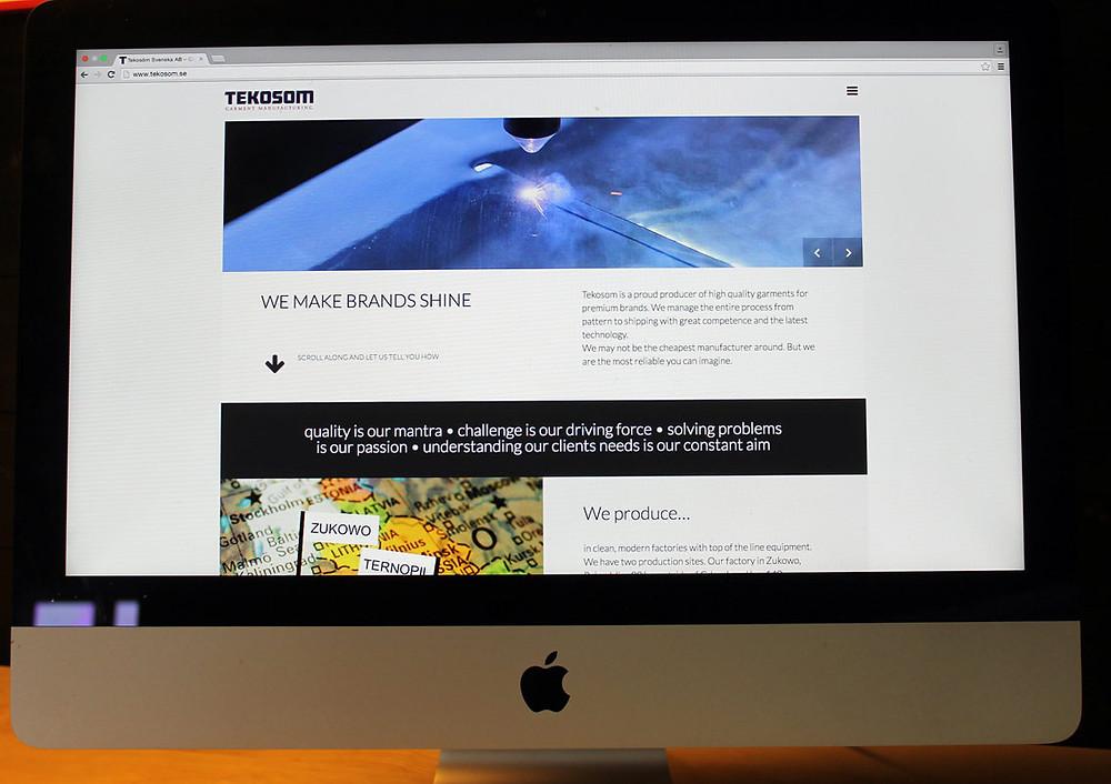 Ny hemsida för Tekosom