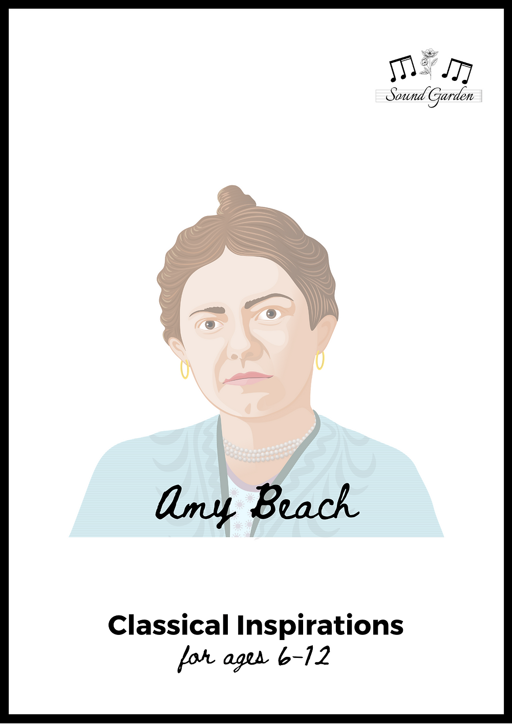 Front page of Classical Inspirations: Amy Beach activity book for ages 6-12