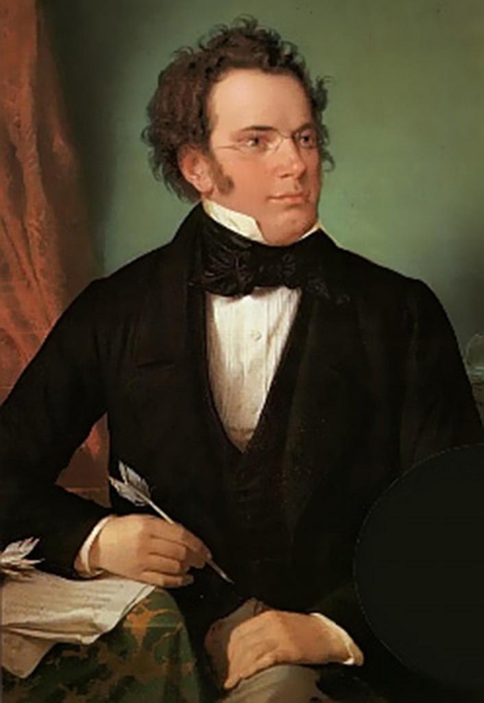 Painting of composer Franz Schubert