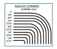 Radius Corner Chart