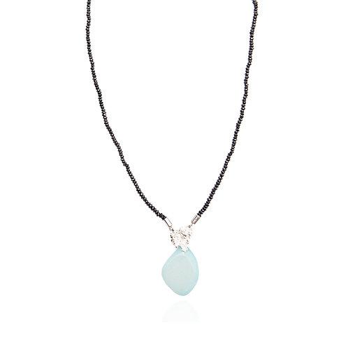Collier Natureza Concreta - Agate bleue