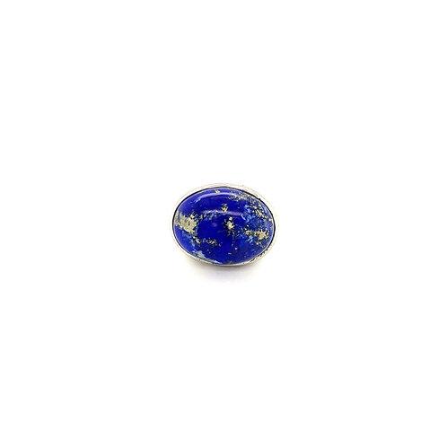 Bague Onyx blanc et Lapis lazuli