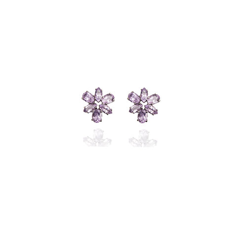 Amethyst branch earrings