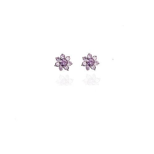 Boucles d'oreilles Fleur D'Améthyste