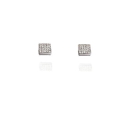 Boucles d'oreilles Pavé Diamant Carré