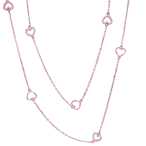 "Collier ""All Hearts"" Rosé"