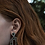 "Thumbnail: Green ""Na Teia"" earrings"