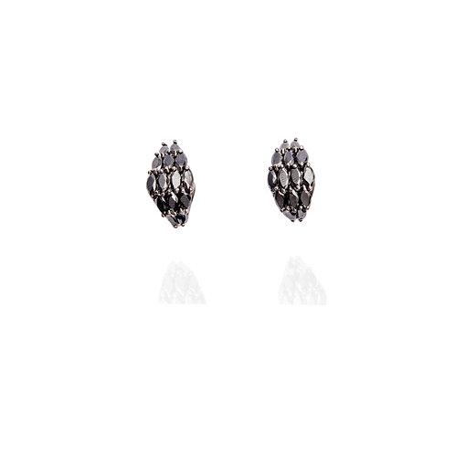 Boucles d'oreilles Marquise Onyx