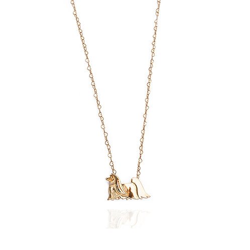 Lhasa Apso Necklace - Gold