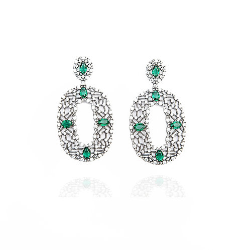 "Green ""Na Teia"" earrings"