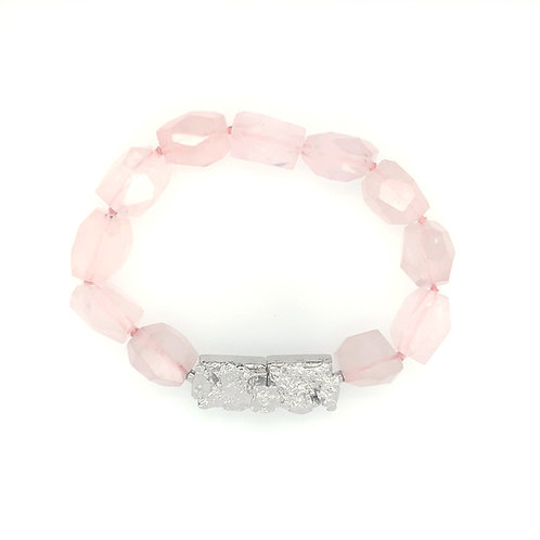 "Bracelet ""Natureza Concreta"" Drops Rose"