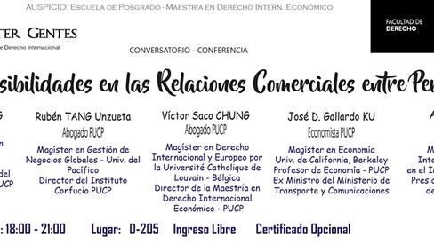 NOTA DE PRENSA - EVENTO: RETOS Y  POSIBILIDADES EN LAS RELACIONES COMERCIALES ENTRE PERÚ Y CHINA