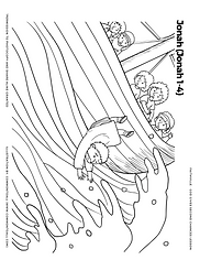 Second chances colouring coloring page jonah and the whale