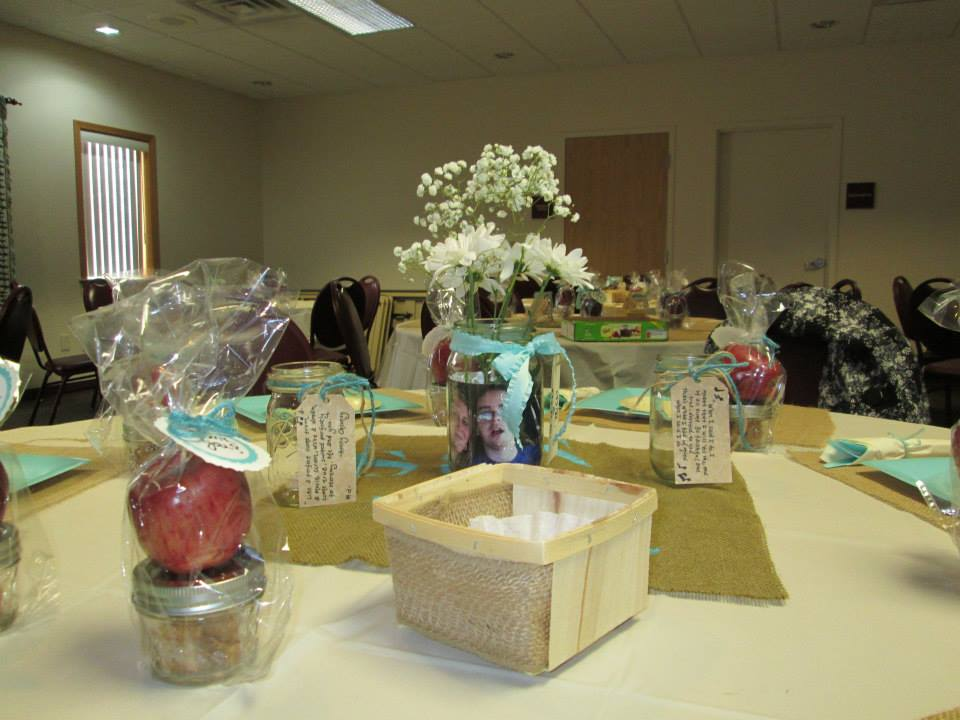Aqua and Burlap Bridal Shower
