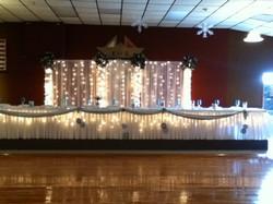 Bridal Party Table decor & Backdrop