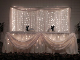 bridal table backdrop