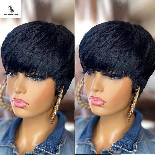 Short Pixie Cut Straight Hair