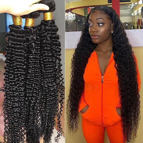 32 34 36 38Inches Brazilian Hair Deep Curly Hair Bundle