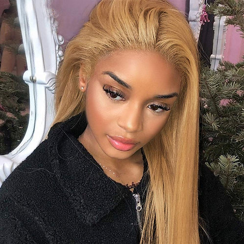 Honey Brown Lace Front Wig Human Hair