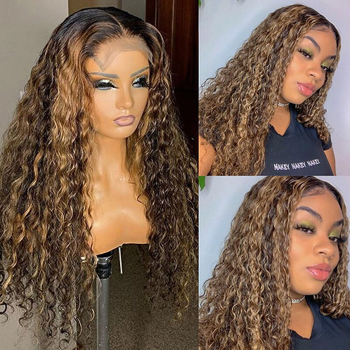 Highlight Curly Lace Wigs Re*1 Lace Front