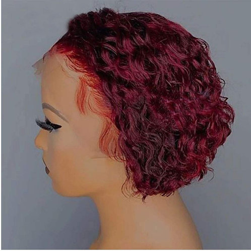 Burgundy Lace Wig For Women
