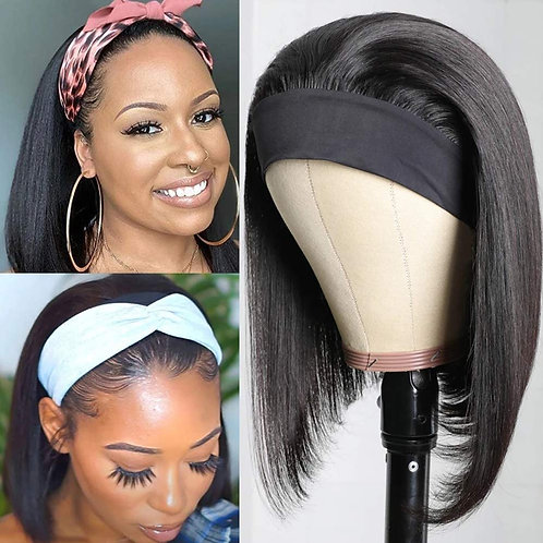Bobcut Headband Wig