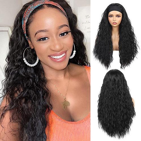 Bileaf Headband Wig Water Wave Headband Wigs for Black Women 24 Inch