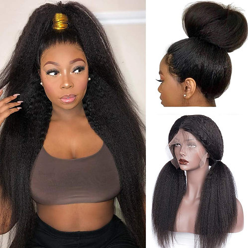 HC Hair Kinky Straight 360 Lace Frontal Wig