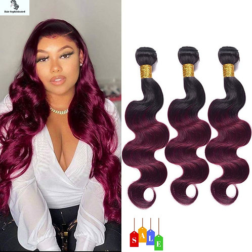 Ombre Burgundy Human Hair