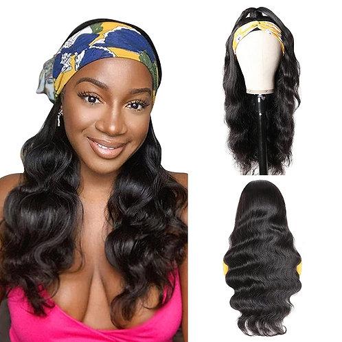 Headband Wig Natural Color Long Wavy Headband Wigs