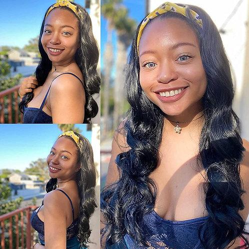 Body Wave Headband Wigs for Black Women