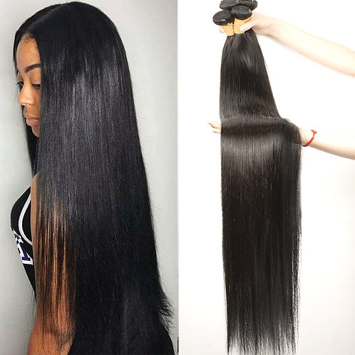 32 34 36 38 40 Inch Brazilian Straight Hair Bundles