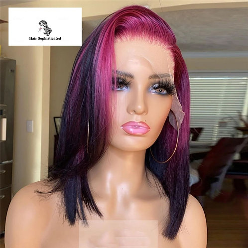 Brazilian Human Hair Wig Purple