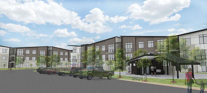 Allegro II at Ash Creek, 5 story apartment complex - Pelletier + Schaar