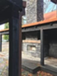 O'Neill Residence entry trellis detail - Pelletier + Schaar