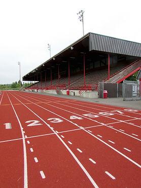 Stanwood High School resurfaced running track - Pelletier + Schaar