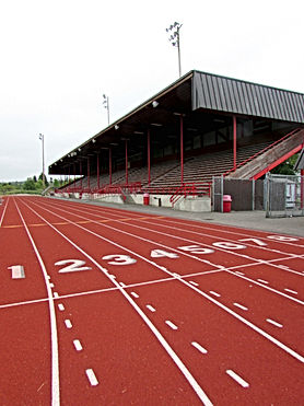 Stanwood High School resurfaced running track - Pelletier + Schaar