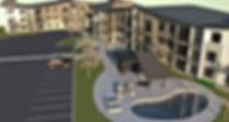 Allegro II at Ash Creek 5 story apartment towers with rooftop gardens and decks - Pelletier + Schaar