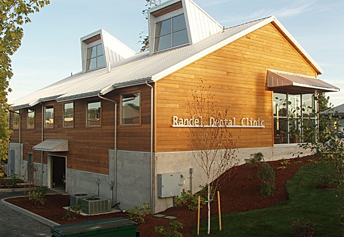 Randel Dental with contemporary detailings, wood, metal, and concrete - Pelletier + Schaar