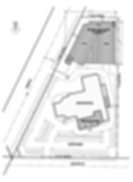 Acura of Lynnwood site plan showning addition and a possible parking garage - Pelletier + Schaar