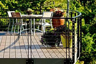 Smith Addition & Deck custom steel cable rail detailing - Pelletier + Schaar